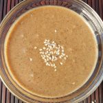 Homemade Tahini Sesame Sauce in small bowl
