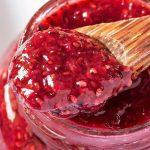 Closeup of Strawberry Chia Jam