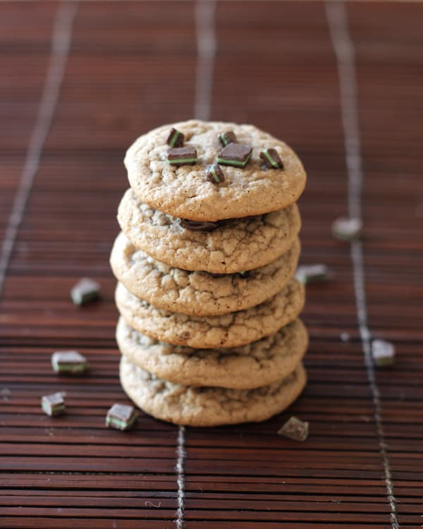 Chocolate Mint Chip Cookie Stack