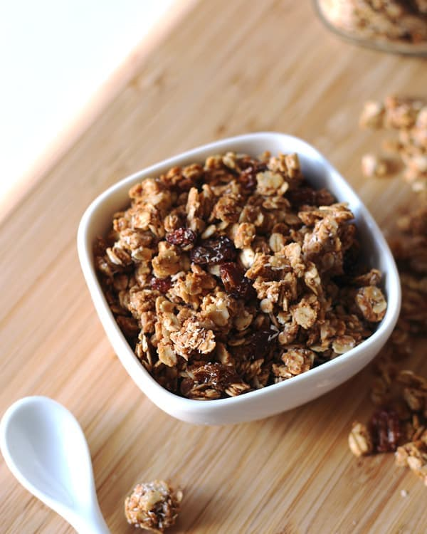 Cinnamon Raisin Almond Butter Granola