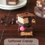 Leftover Candy Stuffed Brownies