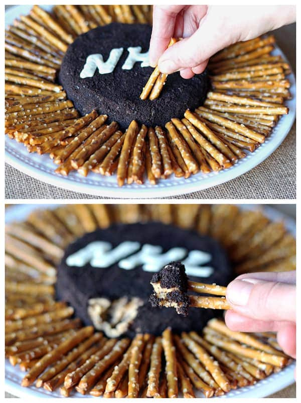Oreo Peanut Butter Hockey Puck Dip #shop