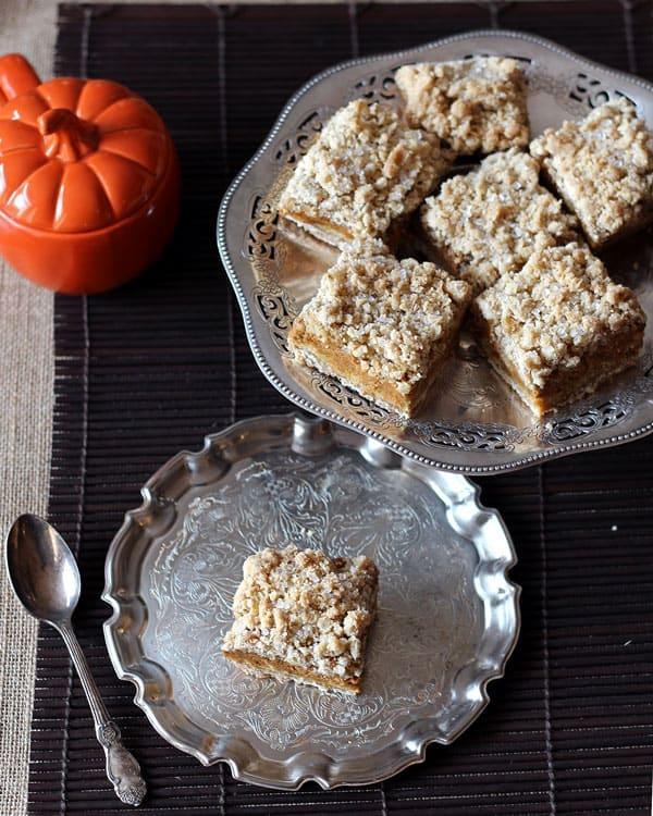 Platter of Pumpkin Pie Bars