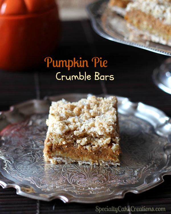 Pumpkin Pie Crumble Bars ~ Easier than Pie - Leelalicious