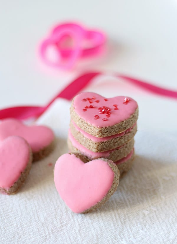 Almond Cinnamon Heart Cookies