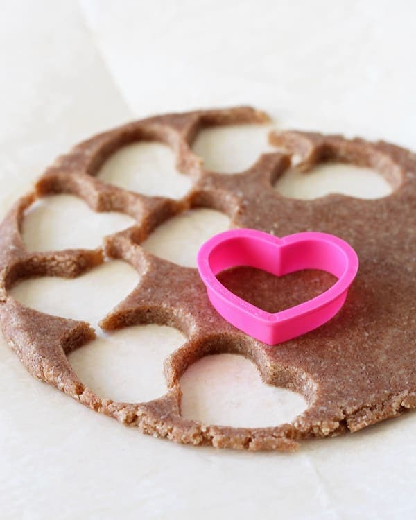 Cutting Heart-shaped Cookies