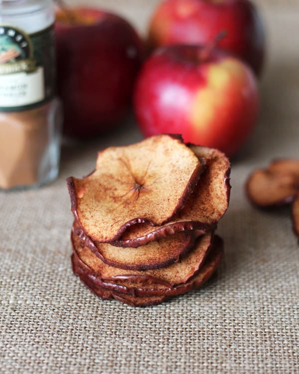 Cinnamon-Maple Apple Chips