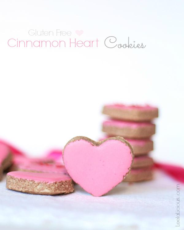 Gluten Free Cinnamon Heart Cookies