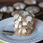 Mint Chocolate Crinkle Cookies
