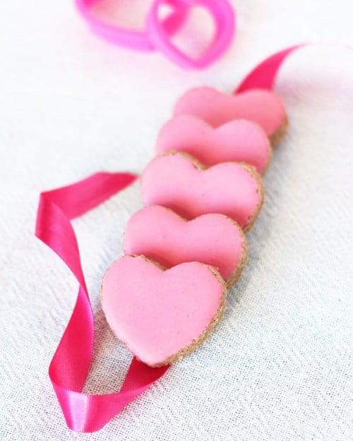 Valentine's Day Almond Heart Cookies