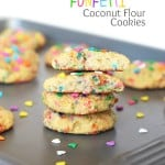 Coconut Flour Funfetti Cookies {Gluten and Dairy Free}