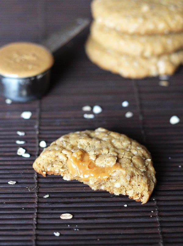 Oatmeal Cookie Oozing Peanut Butter