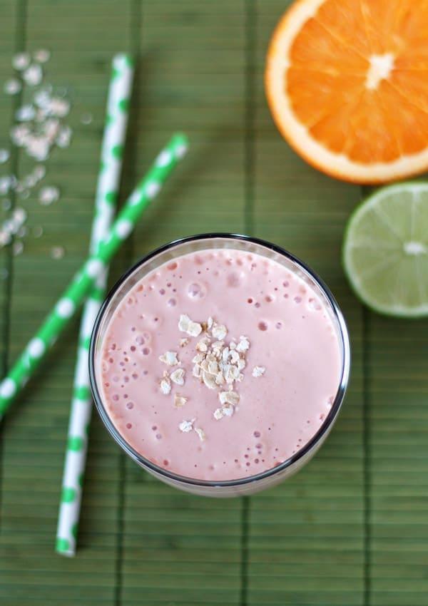 Strawberry Breakfast Margarita Smoothie