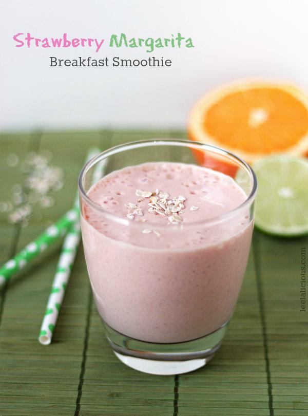 Strawberry Margarita Breakfast Smoothie