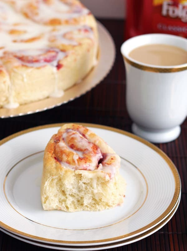 Fluffy Sweet Roll on Plate