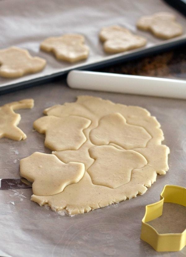Cutting Dough for Sugar Cookies