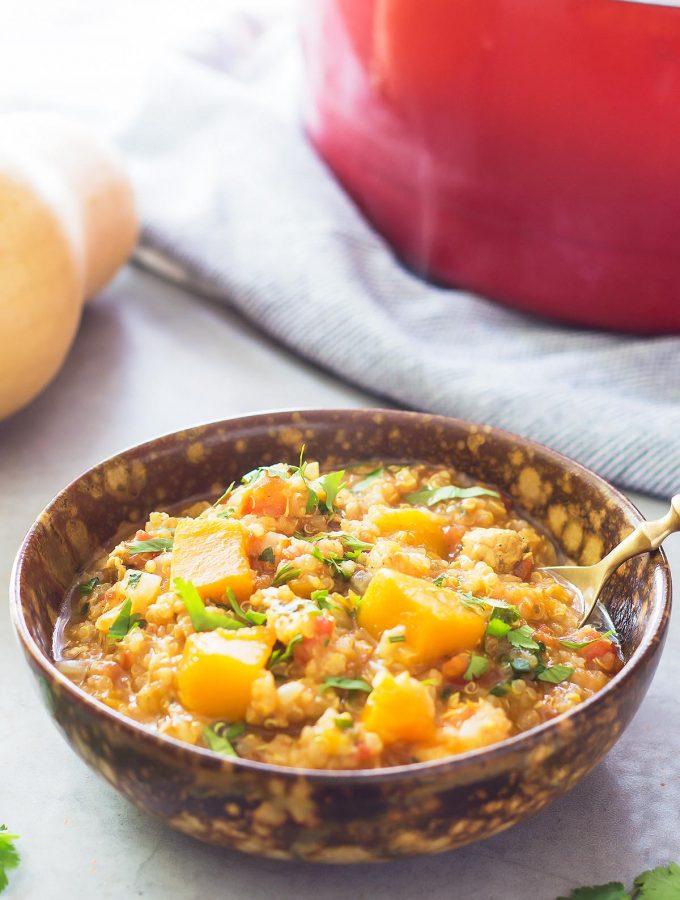 Butternut Squash Chicken Slow Cooker Stew