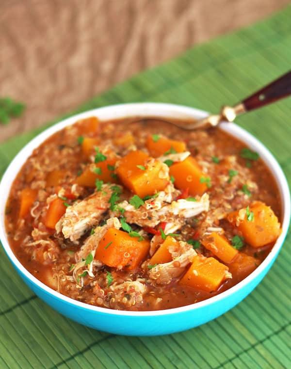 Butternut Squash Quinoa Chicken Stew
