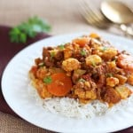 Cauliflower Curry with Ground Beef