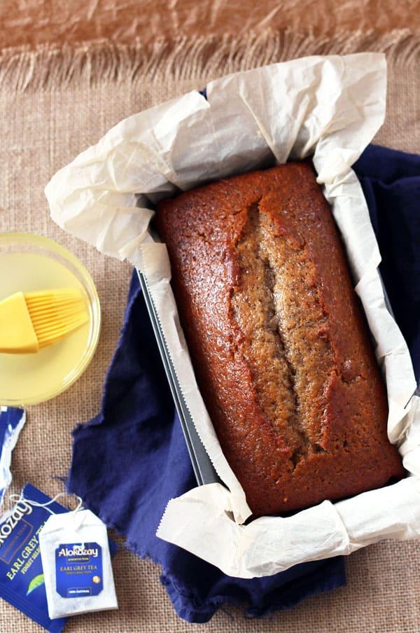 Earl Grey Tea Cake Loaf