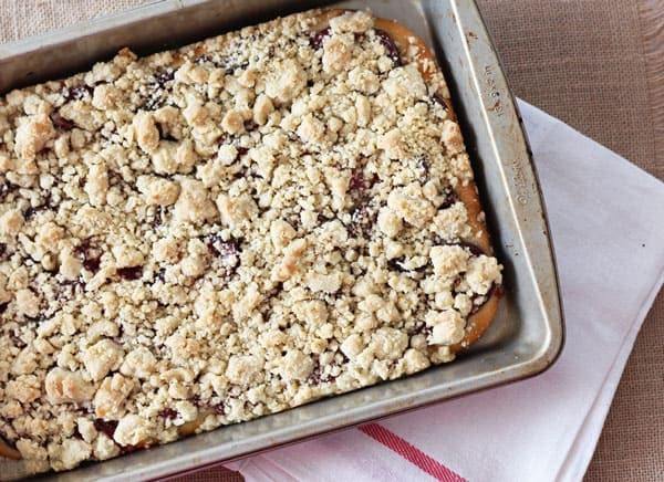 German Plum Crumb Cake