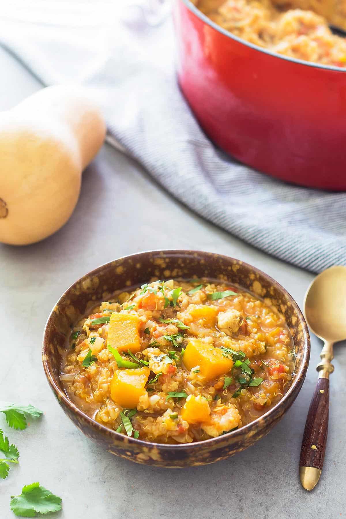 Instant Pot Butternut Squash Chicken Stew