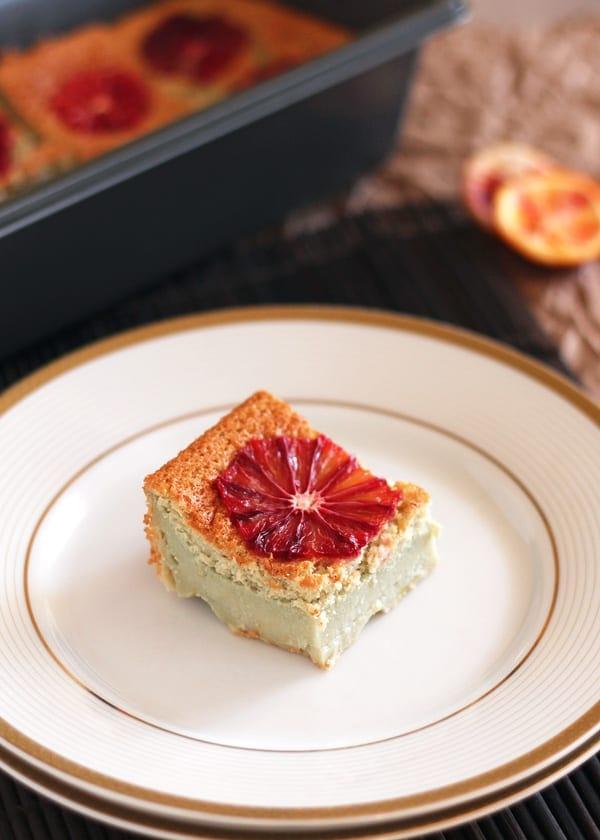 Blood Orange Cake Slice