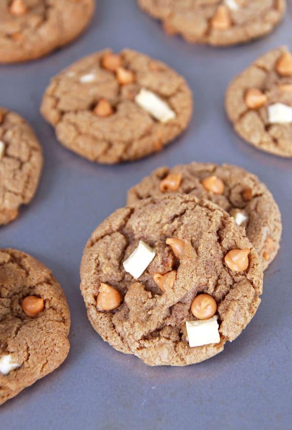 golden butterscotch white chocolate cookies