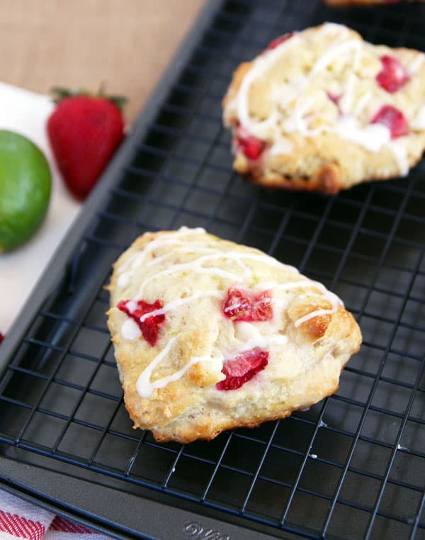 Scones with Strawberry and Lime