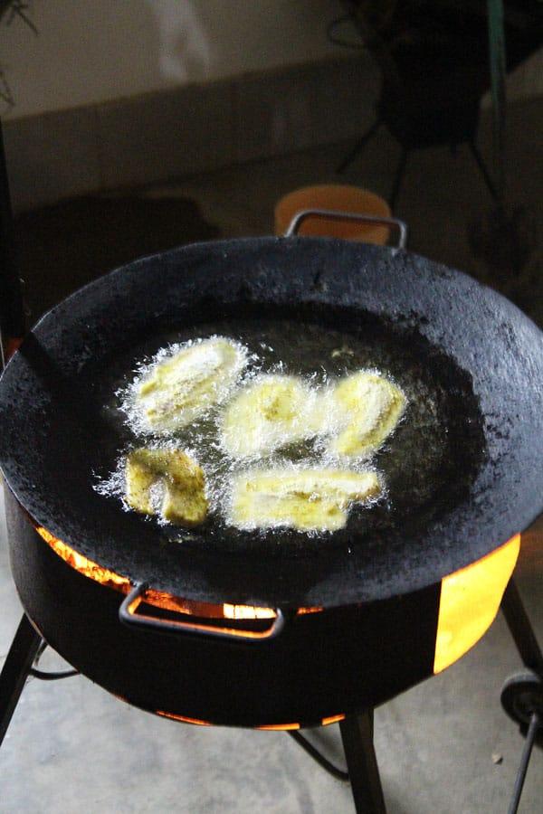 Frying Tilapia Outdoors