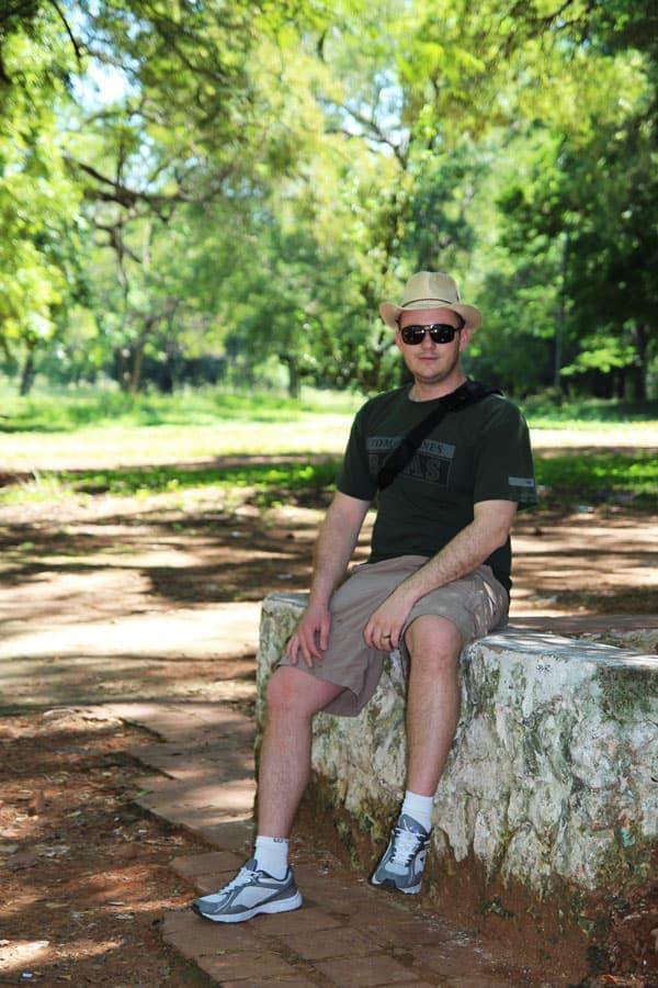 Sitting at the Zoo in Asuncion