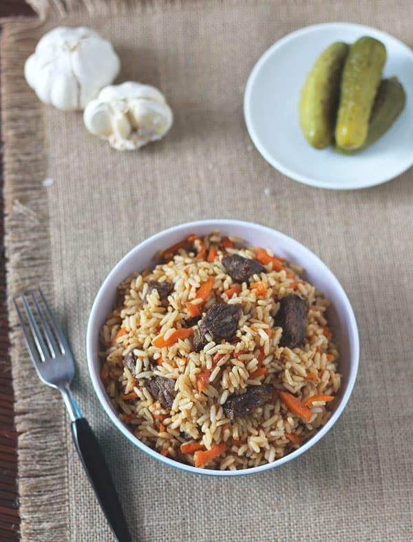 Uzbek Rice Pilaf