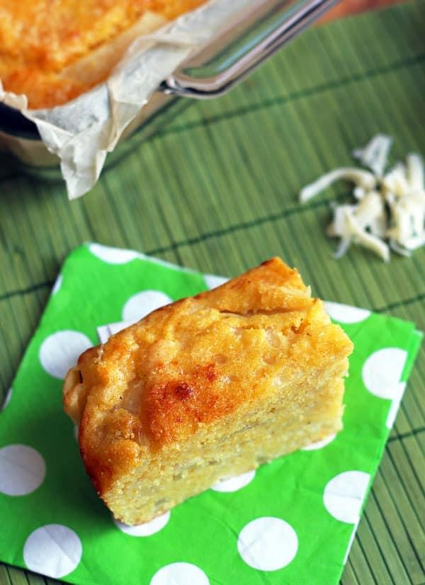 Sopa Paraguaya - Cheese + Onion Cornbread