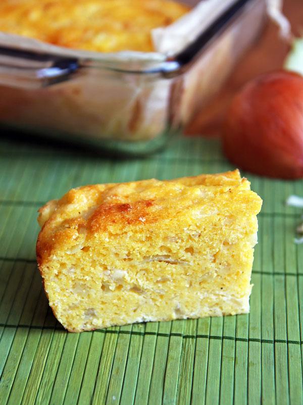 Slice of Cheese Cornbread