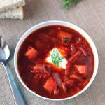 Borscht – Ukrainian Cabbage Beet Soup