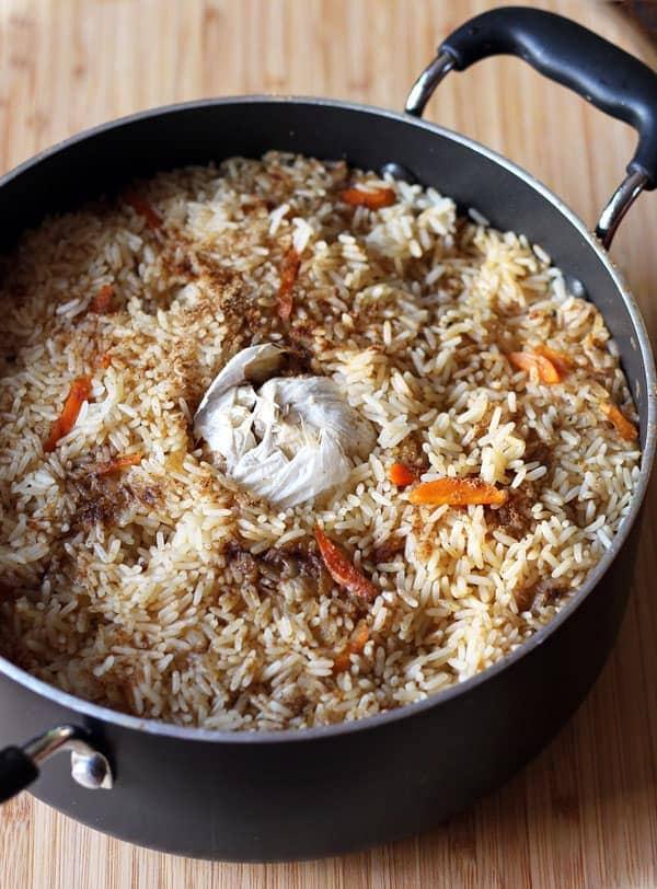 Uzbek Plov-Rice Pilaf