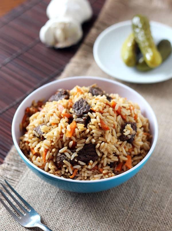 Uzbek Plov - Beef Rice Pilaf