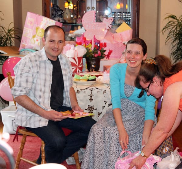 Opening Baby Shower Gifts