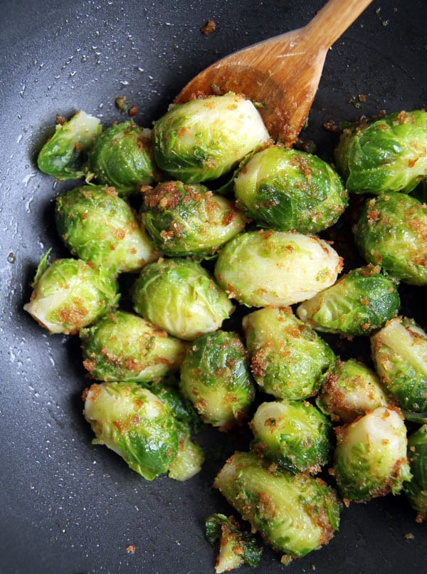 Breadcrumb Crusted Brussels Sprouts