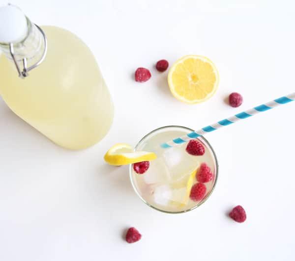 No Sugar Raspberry Lemonade