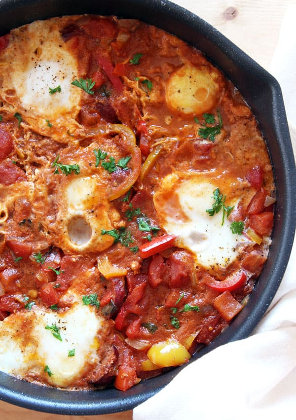 Shakshuka - Poached Eggs in Tomato Sauce