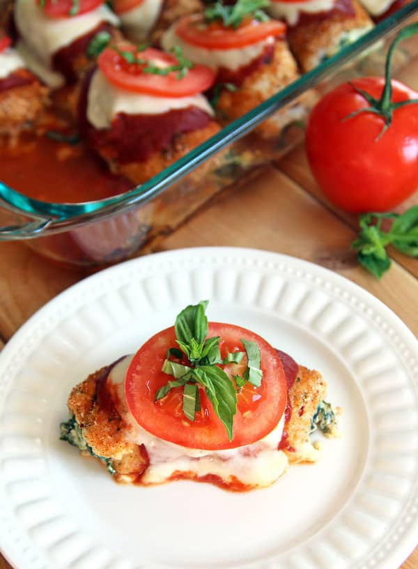 Caprese Chicken Roll Ups