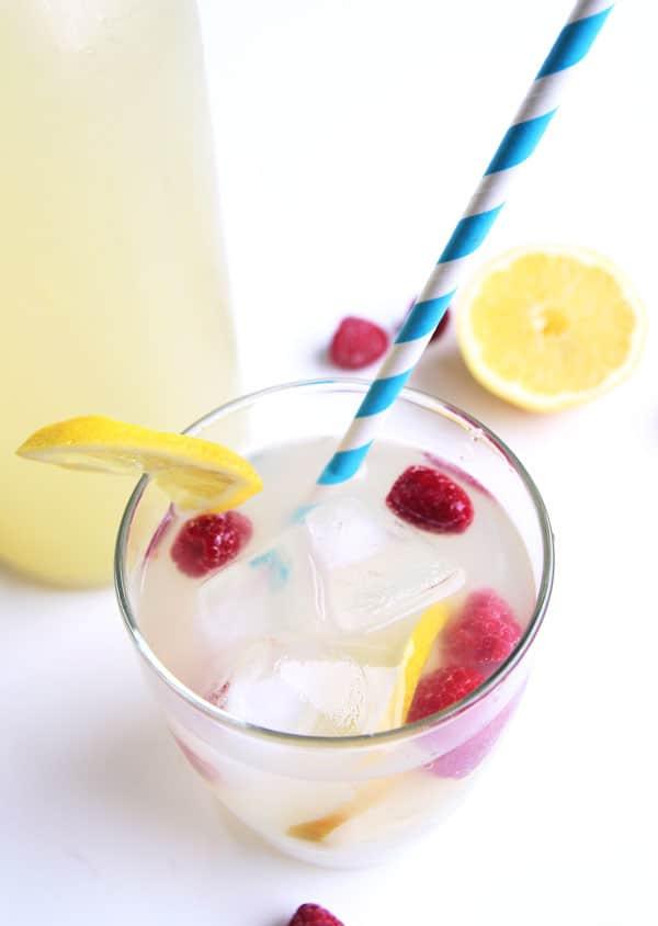 Glass of Raspberry Lemonade