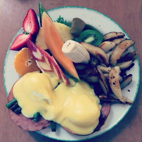 Eggs Benedict at Cora's