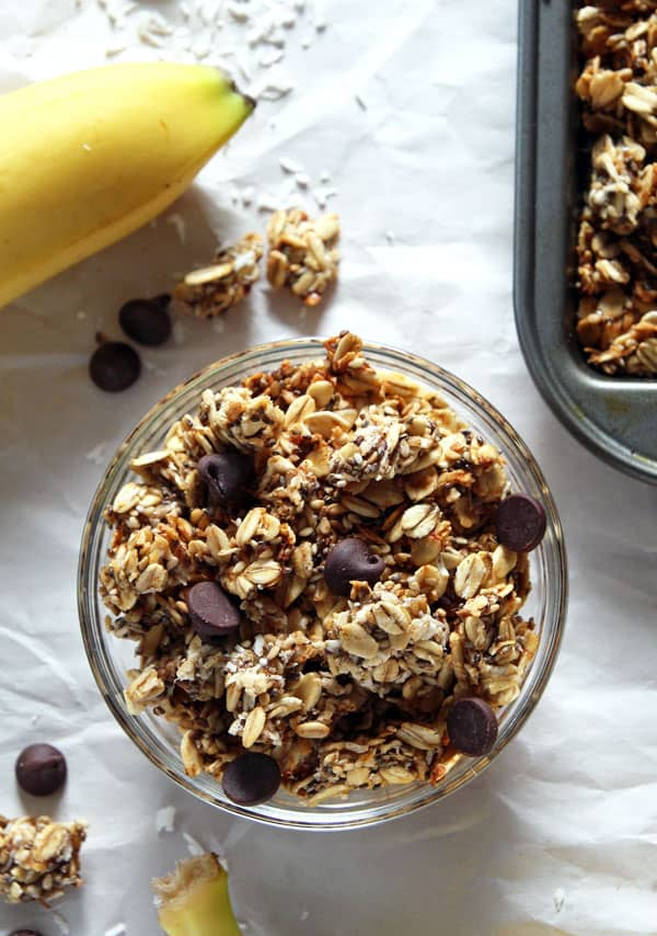 Roasted Banana Coconut Granola
