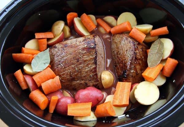 Eye of Round Pot Roast in Slow Cooker