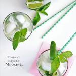 Rhubarb Mojito Cocktail