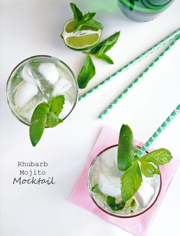 Rhubarb Mojito Mocktail