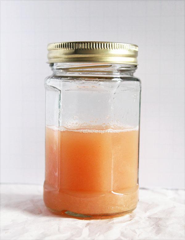 Pink Rhubarb Simple Syrup