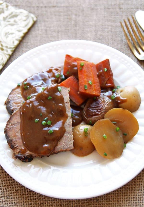 Roast Beef Dinner with Vegetables
